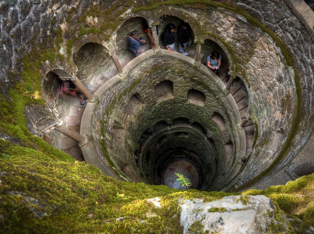 Initiatic Well at Quinta da Regaleira of Sintra, Portugal