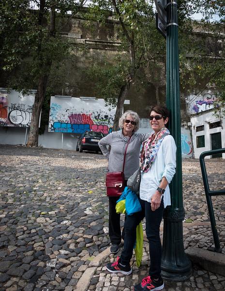 Hannah and Becky, Lisbon