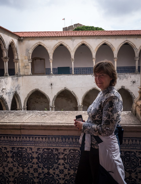 Melinda at Knights  Templar Castle in Tomar