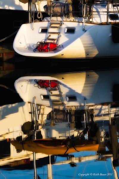 Friday Harbor - Boat Reflection 4