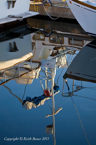 Friday Harbor - Boat Reflection 1