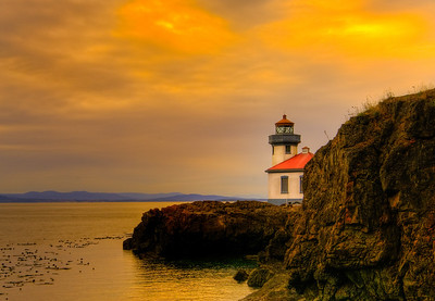 Lime Kiln Lighthouse.  San Juan Island, WA.