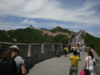 Tourists on the Great Wall