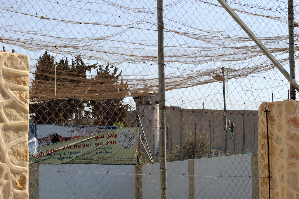 Bethlehem, Net Over Kid's Park to Catch Smoke Grenades
