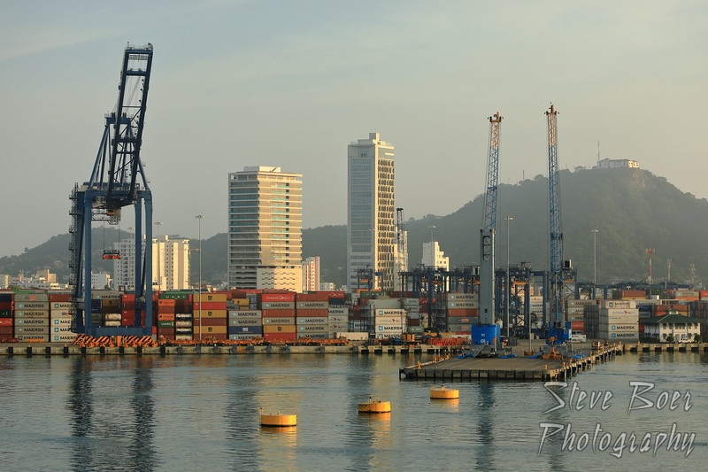 Shipping area in Cartagena