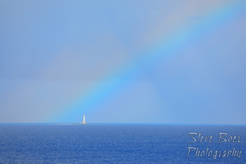 Lighthouse at the end of the rainbow