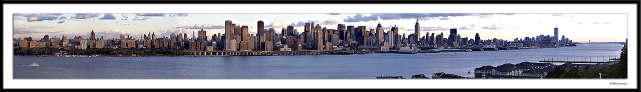 Manhattan from Midtown to the Harbor <br /> (WTC Towers still standing)