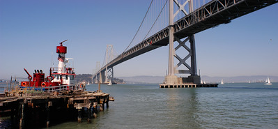 Bay Bridge and Fireboat Pano