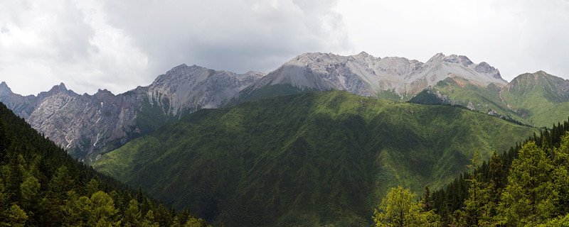 Jagged Peaks, Huanglong<br /> <br /> The view from Huanglong Valley to the surrounding peaks reinforces the power of nature that formed the Sichuan mountain ranges.