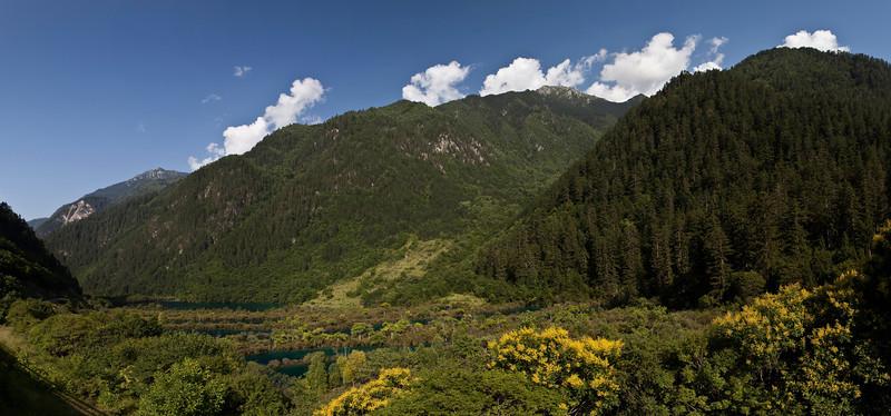 Shuzheng Valley, Jiuzhaigou National Park, Sichuan<br /> <br /> Six shot hand held panorama