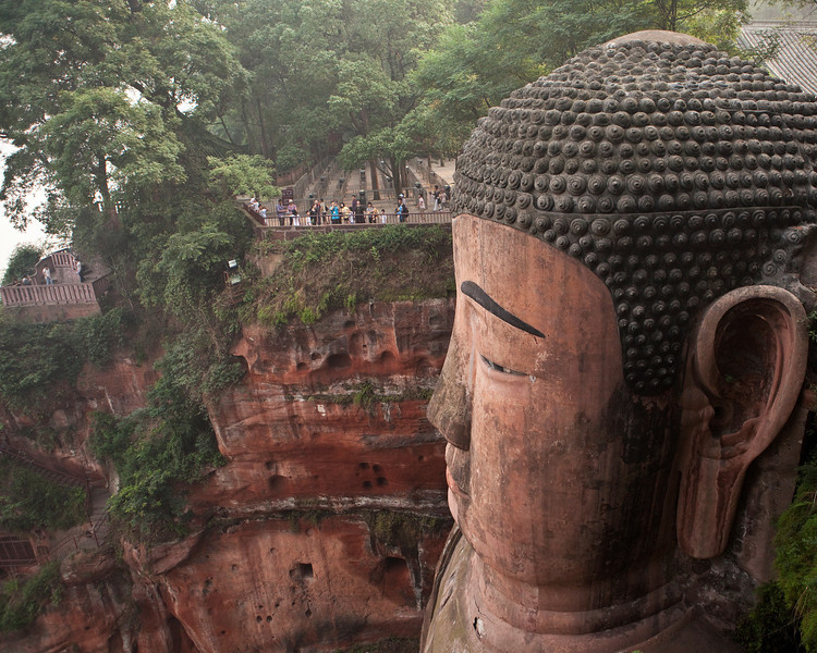 Dafo, Leshan<br /> <br /> The tourists give you some idea of scale of this statue