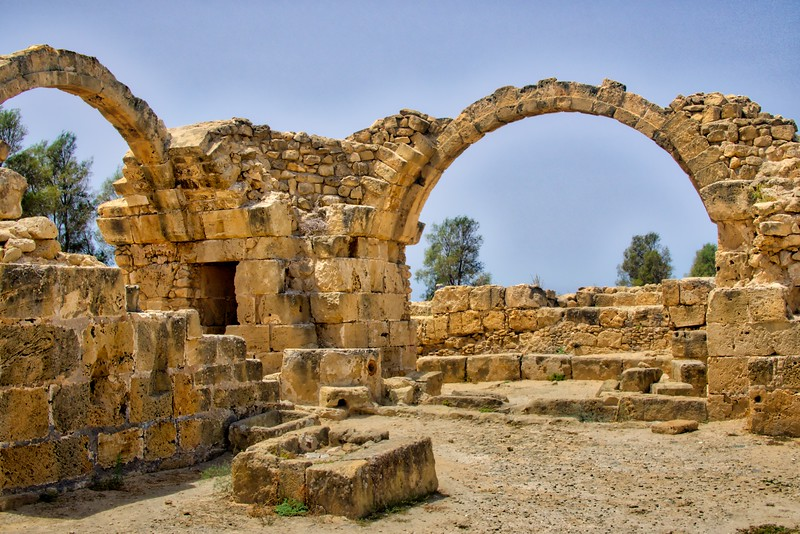 Old castle ruins in Kato Paphos