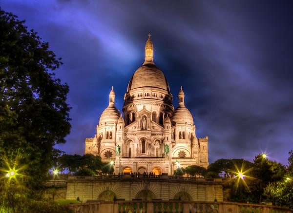 Sacre Couer Montmartre, Paris, On A Warm Summer Evening