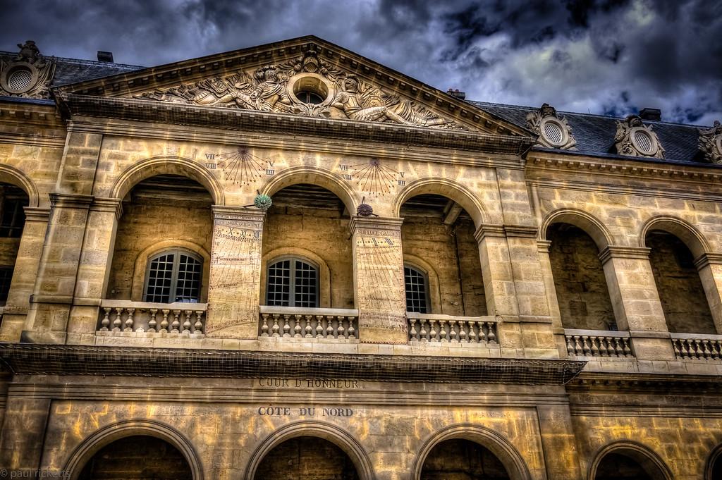 North Wall of the Musée de l'Armée courtyard, Paris, France