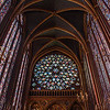 The rose window of Sainte-Chapelle from mid-chapel