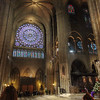 Service and North Rose Window of Notre Dame of Paris
