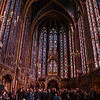 Tour group being shown the beauty of Sainte-Chapelle