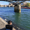 Taking in the spring sun along the Seine