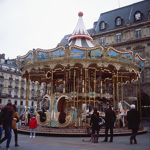 Carousel in front of the Hotel De Ville