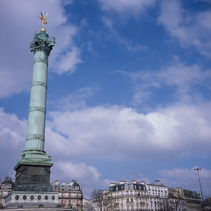 Place de la Bastille up high