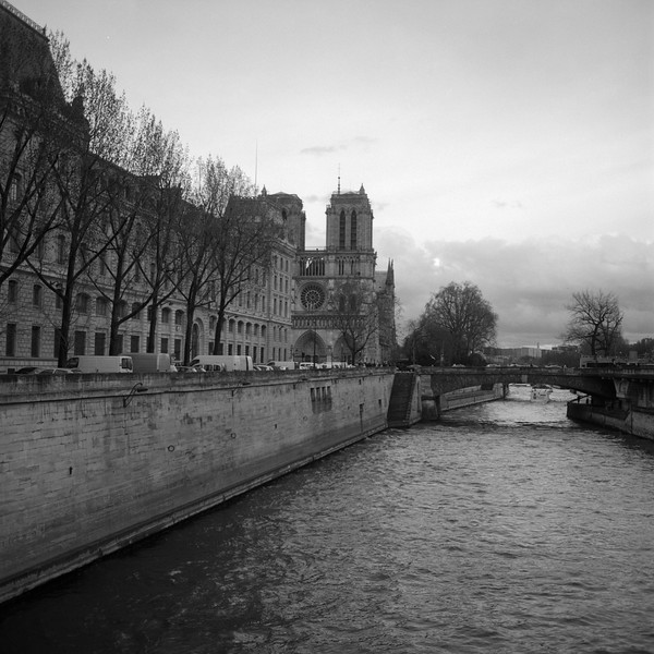 Approaching Notre Dame from the West