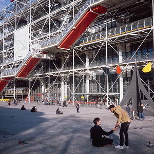 Greetings at the Pompidou