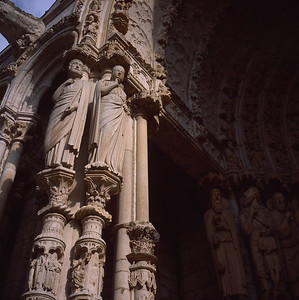 Chartres North Porch Light and Dark