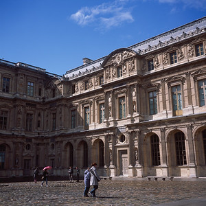The Cour Caree at the Louvre