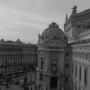 Paris Opera viewed from 4th floor guest room, Le Grand Hotel