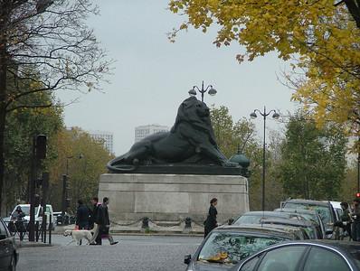 Lion de Belfort, Place Denfert-Rochereau