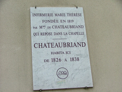 Chateaubriand lived here