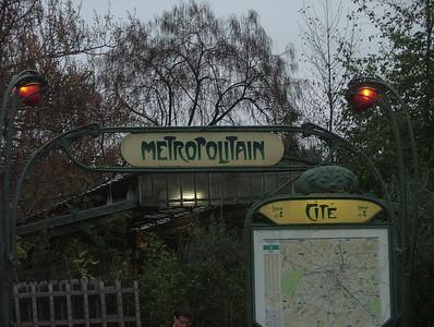 Metro Entrance on Ile de la Cite