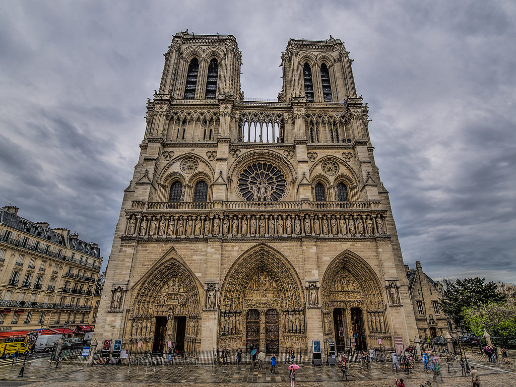 Notre Dame Cathedral, Paris, France.  15 April, 2013.  Photo by: Stephen Hindley ©