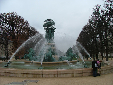 Admiring the Fountain at Port-Royal