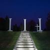 Preisler cemetery plot at Nola using flashlights to light paint.