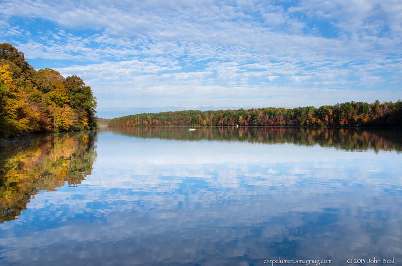 "(10Nov13)  lake relflections.  <a href=""http://carpelumen.smugmug.com/Photography/2012/November12/26313624_9qcLnV#!i=2207319497&k=HH8nv8M"">one year ago.</a>  f/10, 1/500s, iso 400."