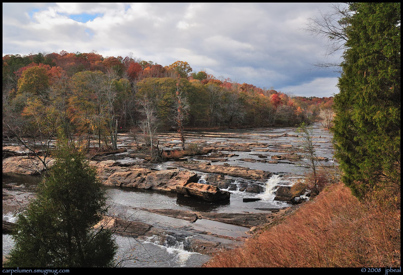 "(18Nov08)  sweetwater creek.  i'm adding this shot for perspective.  this is at the start of the cascades.  to the left and across the creek lie the ruins in saturday's shot.  <a href=""http://carpelumen.smugmug.com/gallery/3762079_ptSNj/1/222918569_oRMpm/Medium"">one year ago.</a>  f/11, 1/320s, iso 400."
