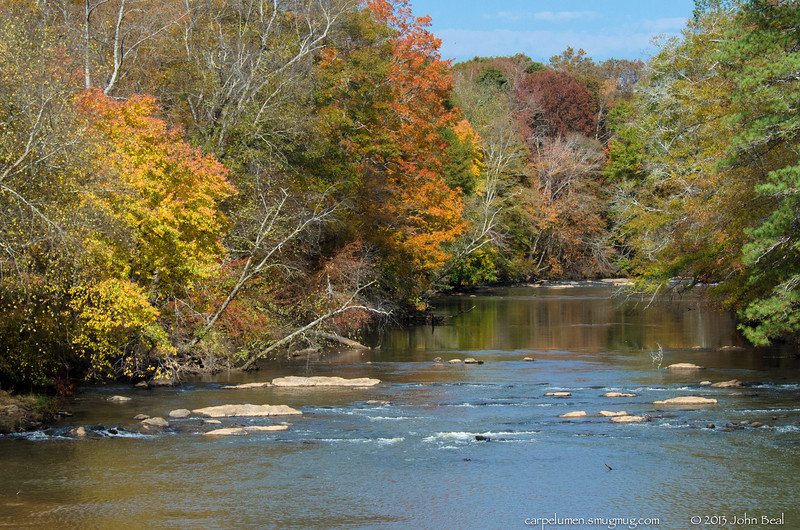 2Nov13<br /> <br /> sweetwater creek. autumn colors hit the metro area this week, and saturday was a beautiful day to get out and enjoy.<br /> <br /> f/11, 1/1000s, iso 800.
