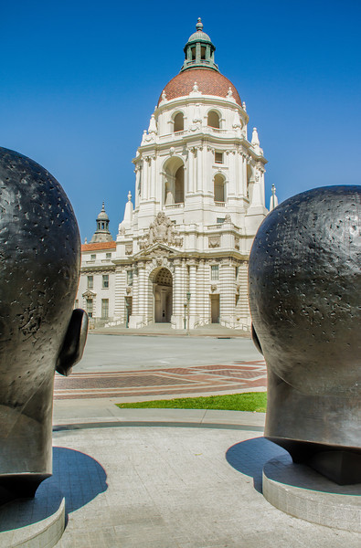 In front of Pasadena's City Hall
