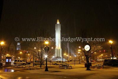 Snowy Easton Peace Candle  Dec 2012 Orr's / Bixlers Clock