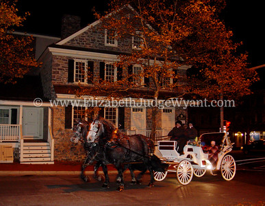 Easton Peace Candle Lighting Nov 2007 Bachmann Tavern On the northeast corner of Northampton and Second Streets is the Bachmann Tavern, the oldest building remaining in the city. The land deed was secured from the Penns on November 17, 1754 by John Bachmann, its builder. The building served as a tavern and long time residence of George Taylor, a signer of the Declaration of Independence. The tavern was visited by George Washington and Ben Franklin. It was, like many taverns, a social center of colonial times, and often served as a courtroom until the original courthouse was completed in 1765.