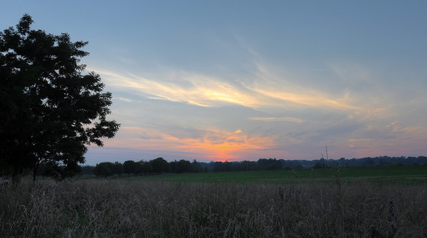 Sunset at Norristown Farm Park.