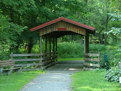 A covered bridge