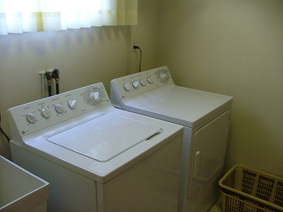 washer/dryer. Not clear if they convey (think not)