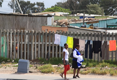 Shanty town in Capetown, S.A.