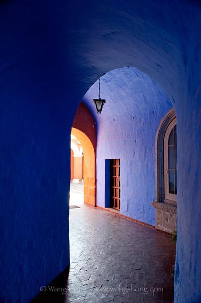 Inside the Convent of Santa Catalina in Arequipa, Peru.
