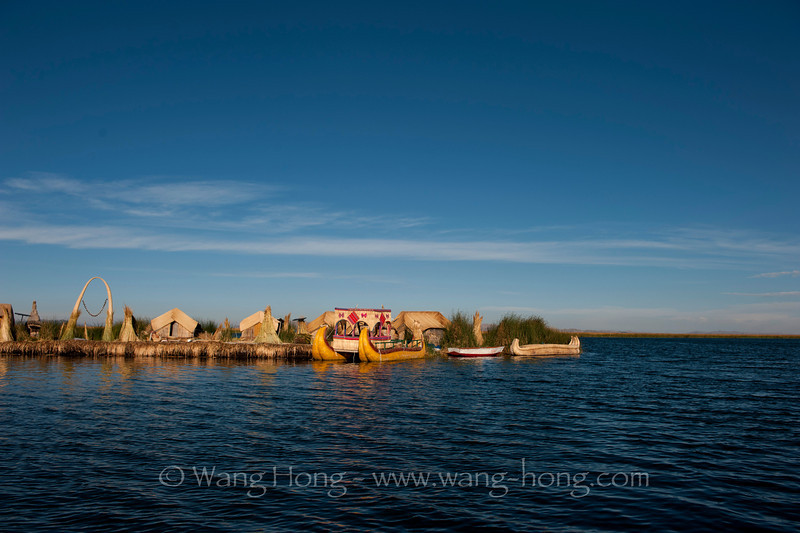 Uros - the floating islands on Lake Titicaca