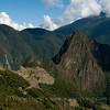 Machu Picchu from Sun Gate at end of Inca Trail