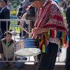 Drummer in a group for the Inti Raymi celebration.