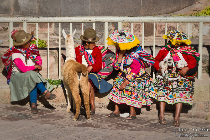 Some in Cusco make a living by posing for tourist photos in traditional attire.